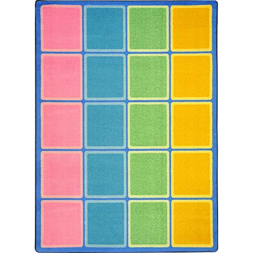 Joy Carpets Kid Essentials Early Childhood Blocks Abound Rug, Pastel, 5