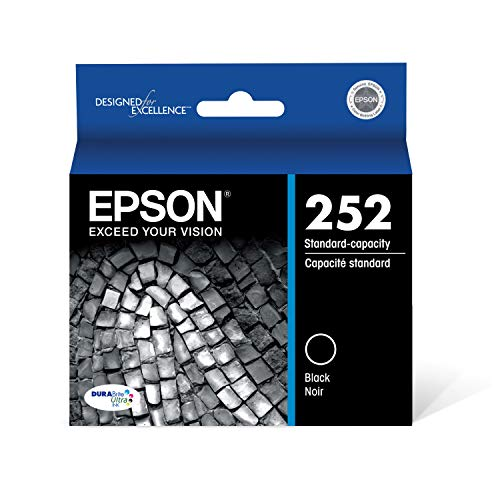 EPSON T252 DURABrite Ultra Ink Standard Capacity Black Cartridge (T252120-S) for select Epson WorkForce Printers