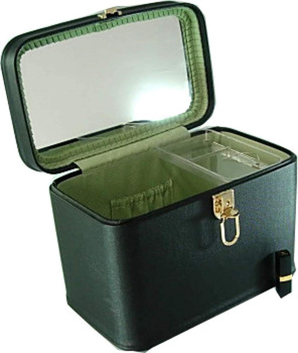 商業の眼お嬢メイクボックス コスメボックス トリプルG2 33cm ヨコパールブラック 日本製