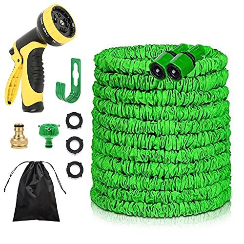 Flexibler Gartenschlauch,Dehnbar 10-30m mit 10 Funktionen Brause und Schnelladaptern - Wasserschlauch Flexibel Gartenschläuche Flexibler Wasserschlauch