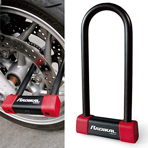RADIKAL RK250R Antivol U Moto Homologué SRA 85X250 Haute Qualité, Noir Rouge