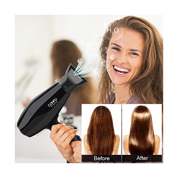 Beauty Shopping Professional Ionic Salon Hair Dryer, CONFU 1875 Watt Negative Ion Fast Drying Blow
