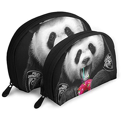 Un Mignon Panda Cop Cosmétique Sacs Étanche Tissu Maquillage Pochette d'embrayage Cosmétique Et De Toilette Organisateur Sac Portable Trousse De Toilette