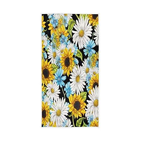 Daisy Flowers Baño Toallas de Mano Summer Girasoles Toallas de Plato, Decorativo...