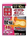 桐灰化学 血流改善腰ホットン 衣類に貼り腰痛を温熱でやわらげる 10枚入 【一般医療機器】