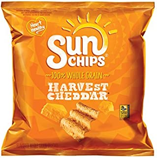 Sunchips Multigrain Snacks, Harvest Cheddar, 1.5-Ounce Large Single Serve Bags (Pack of 64) by Sun Chips