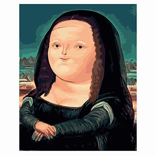 DIOPN decoratief canvas schilderen op cijfers, kleurrijk oog, DIY olieverfschilderij op nummer, afbeelding, digitaal schilderen, zonder lijst, 40 x 50,50 x 60 cm 40 * 50 cm