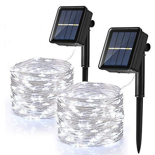 Guirnalda Luces Exterior Solar, BrizLabs 2 Pack 120 LED Cadena de Luces...
