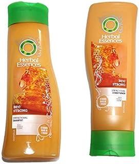 Herbal Essences Bee - kraftvolles Set bestehend aus Shampoo & revitalisierendem Shampoo mit Honigduft 400 ml Flaschen
