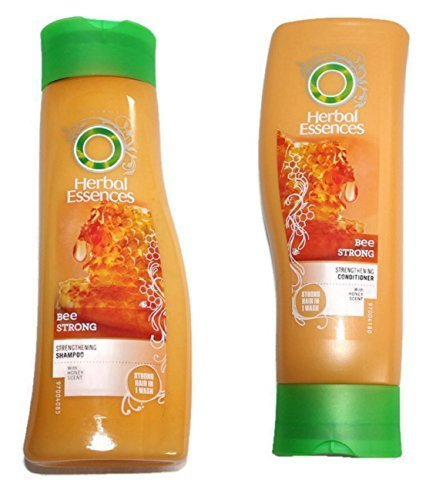 Herbal Essences Bee Fuerte Lote Champú Y Acondicionador con miel Fragancia 400ml Botellas