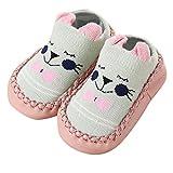 YWLINK Neugeborene Baby-MäDchen-Karikatur-Ohren Bequem Kleinkind Schuhe Bodensocken Anti-Rutsch Baby Schritt Schuhe Socken