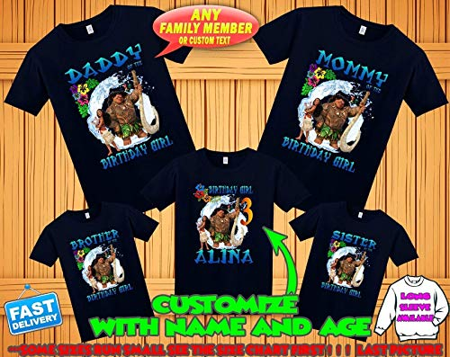 Moana birthday shirt, Moana and Maui birthday tshirt, Moana theme party shirts, Moana family shirts, Moana matching shirts