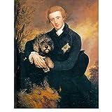 bdkym Classique Homme Portrait Art Peinture À l'huile Image pour Salon Décor Henry Duc De Peck Thomas Gainsborough Affiche-60X80Cmx1 No Frame