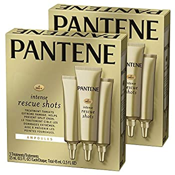 Pantene Rescue Shots Hair Ampoules Treatment Intensive Repair of Damaged Hair Pro-V 1.5 Fl Oz Twin Pack
