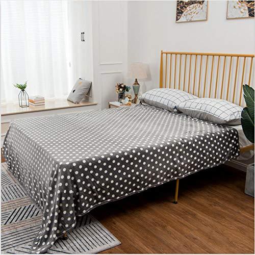 SHIYID Blanket Freizeit Decke Nickerchen Decke schwarz-weiß Punktdruck kleine Decke Decke Decke Decke-200X230CM
