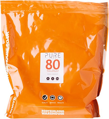 Bodybuilding Warehouse Pure Whey Protein Concentrate 80 Grass Fed Low Carb Low Fat Double Chocolate 2kg