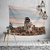 NTtie Colgante de Pared, decoración de Pared artísticamente Impresa para Sala de Estar y Dormitorio, Tapiz Multifuncional de Astronauta Impreso para Colgar en la Pared
