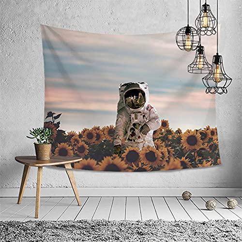 Patrón Tapiz de Pared Tapices Colgante de Pared Decoraciones para el hogar para Sala de Estar Tapiz Multifuncional de Astronauta Impreso para Colgar en la Pared