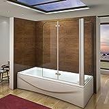 aica italy box doccia sopravasca cabina da vasca parete vasca mobile 180 gradi cristallo 6mm trasparente anticalcare