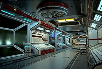 AOFOTO 6x4ft Space Station Backdrop Science Fiction Spacecraft Interior Photography Background Spaceship Cabin Astronomy Universe Galaxy Boy Kid Artistic Portrait Photo Studio Props Vinyl Wallpaper