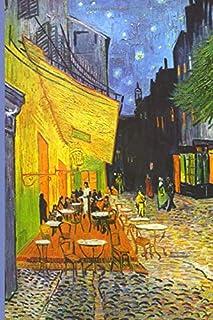 InspirationzStore Notebooks: Van Gogh Cafe Terrace at Night Discreet Internet Password Book Organizer Famous Art Cover A5 Notebook Logbook, website login details keeper Online Accounts manager
