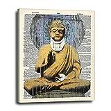 Banksy Buddha Zen Graffiti Canvas Wall Art 16x20 -...
