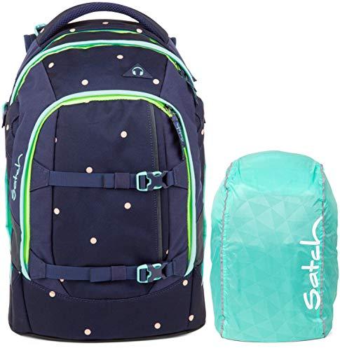 Satch Pack Pretty Confetti 2er Set Schulrucksack & Regencape Mint