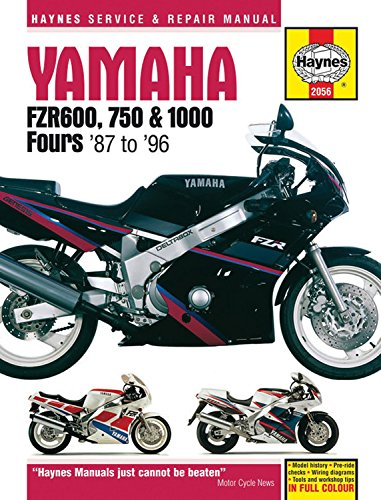 Yamaha FZR 600, 750, 1000 Fours (87 - 96) (Haynes Service and Repair Manual)