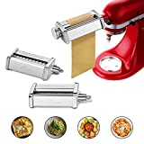 Pasta Attachment for KitchenAid Stand Mixer Included Pasta Sheet Roller, Spaghetti Cutter and...