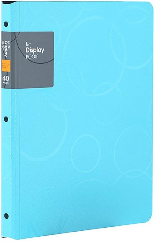 Kunststoff Kunststoff Kunststoff Multi-layer Ordner Information Booklet Loseblattsammlung Ordner A4 Noten   Student Bürobedarf Ordner (40 Seiten) sky Blau B07BXV874P | Nutzen Sie Materialien voll aus  0ed638