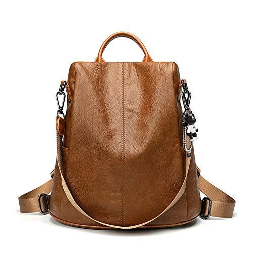 BUKESIYI Women's Backpack Handbags Rucksack Shoulder Bags PU Leather Mini Kawaii Anti-theft CCUK78299 Brown