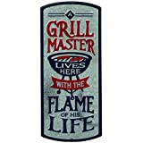 Open Road Brands Grill Master & Flame of His Life Metal Sign