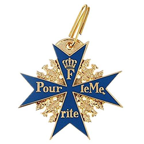 Preußische deutsche Armee WWI Gold-Blue Max Pour le Mérite Eichenlaub Schwerter Orden Abzeichen mit dem Kasten