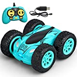 Meryi Mini Stunt RC Cars Toy, 4WD 2.4Ghz Remote Control Car Double Sided Rotating Vehicles, Kids Toy for Boys & Girls Birthday No Battery