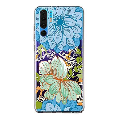 Bigbigjk Hülle Compatible with Huawei P30 pro Schutzhülle, Ultra dünn Transparent TPU Case Cover Soft Flex Silikon Schutzhülle Handy Hülle für Huawei P30 (4, Huawei P30 pro)
