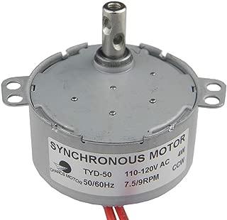 TYD50 Synchronous Motor 110V AC 7.5-9RPM CCW Fixed Rotation 4W Torque 6Kgf.cm