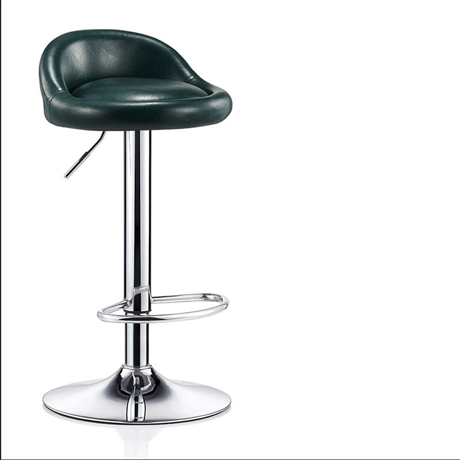 JSSFQK Modern Minimalist High Stools Can Be Backrest Bar Stools Lifting redating Front Bar Chair Home Breakfast Chair bar Chair (color   Green)