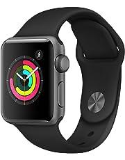 Apple Watch Series 3(GPSモデル)- 38mmスペースグレイアルミニウムケースとブラックスポーツバンド