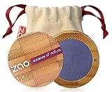 ZAO Pearly Eyeshadow 112 azurblau blau Lidschatten schimmernd / Perlglanz in nachfüllbarer Bambus-Dose