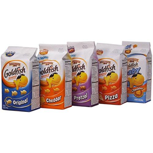 Goldfish ゴールドフィッシュ ベイクドスナッククラッカーズ 5種類セット [並行輸入品]