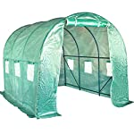 FDW L10'xW7'xH7' Greenhouse for Outdoors Greenhouse Plastic Mini Greenhouse Kit Indoor Portable Greenhouse Plant Shelves… 8 ♠【LARGE TUNNEL GREENHOUSE】The greenhouse use PE fabric with 1 rolling-up door and 8 vents for entry greenhouse. Tunnel greenhouse design offers growing space and ventilation for large size plants. ♠【PROTECT THE PLANTS】Outdoor greenhouse will surely extend your plants growing season no matter where you live, greenhouse can be set up easily. ♠【EASY TO ASSEMBE】The greenhouse comes with all hardware & necessary tools. Follow the portable greenhouse instruction, you'll found easy to set up, and estimated assembly with 2 people.