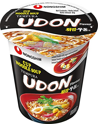 Nongshim Instant Cup Noodle Udon 12X62 Grammo - 740 g