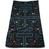 Pacman Retro Video Game Pattern Printed Personality Pattern Soft Microfiber Bath Towel for Bathroom Towel Out Picnic Travel Towel School Bath Towel, Dish Towel, Tablecloth