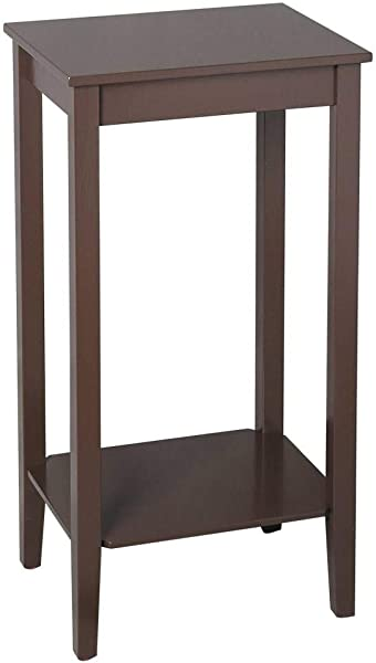 Binlin Coffee Side Table Tall Side End Table W Shelf Coffee Bedside Sofa Table For Living Room Bedroom Espresso Nightstand