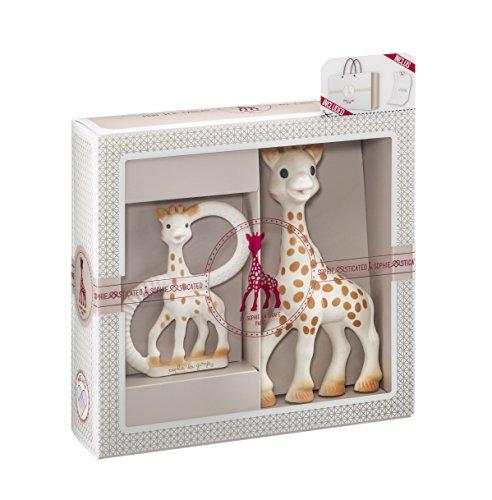Vulli 000001 Geschenkset Geburt Sophie die Giraffe + Beißring, beige
