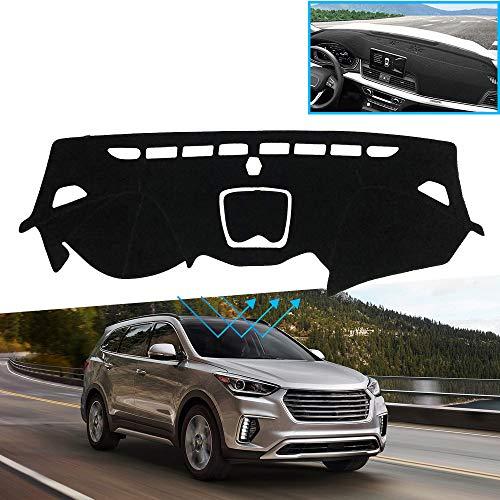 XHULIWQ Auto Armaturenbrett Abdeckung Anti-Rutsch-Sonnenschutz Pad Zubehör, Für Hyundai Santa Fe 2013-2018 DM