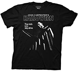 Halloween The Trick to Stay Alive Adult T-Shirt