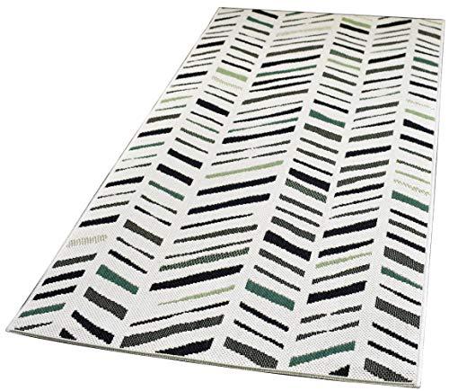 In- und Outdoor-Teppich Angular Columns M 80x150cm Kunststoff für Innen und Außen