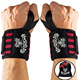 Gooda Grip Wrist Wraps – Durable Lifting Wraps for Wrists with Thumb Loops for Men and Women, 1...