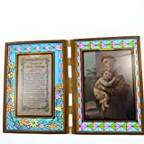 C BC Stained Glass Double Frame with Novena to St. Anthony and Image 18cm